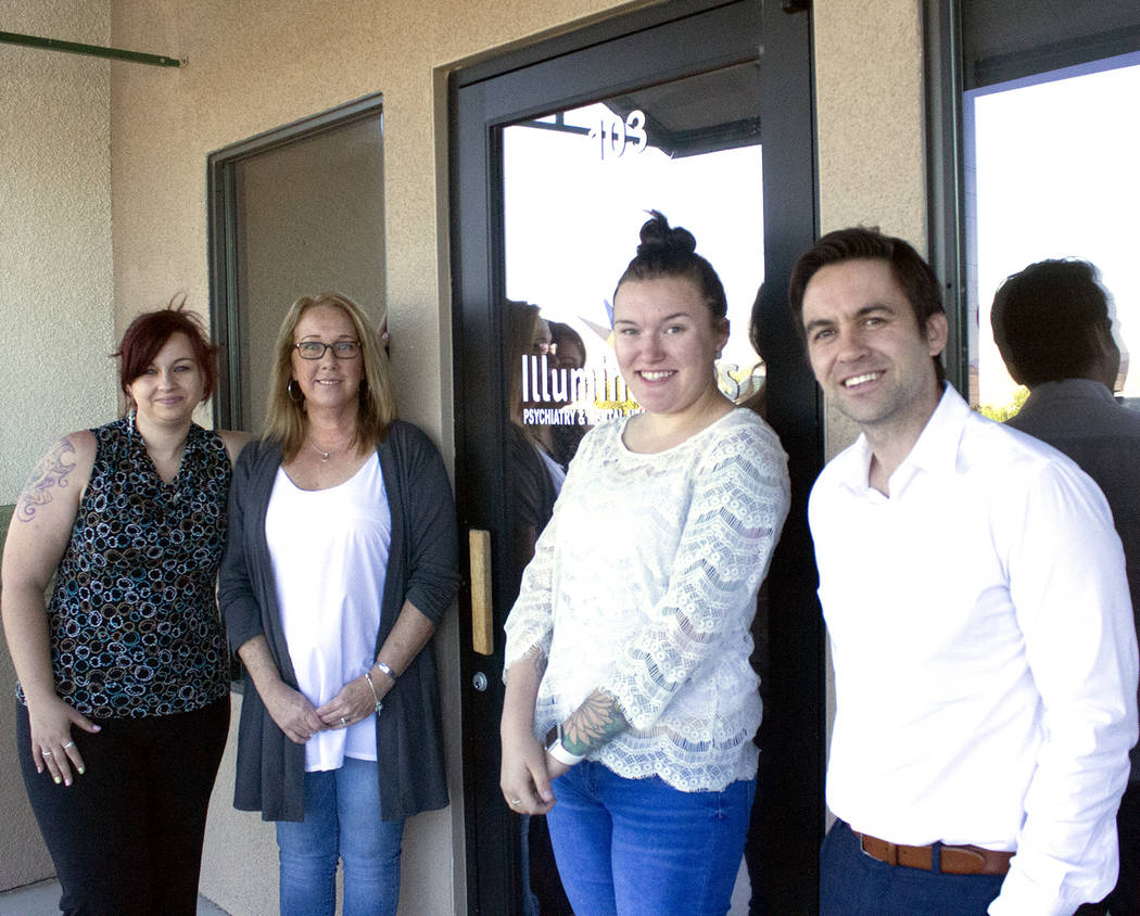 Jeffrey Meehan/Pahrump Valley Times Several employees of Illuminations Psychiatry and Mental He ...