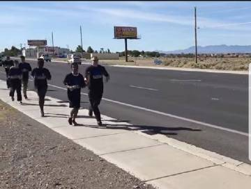 Screenshot/Nye County Sheriff's Office video On its Facebook page, the Nye County Sheriff's O ...