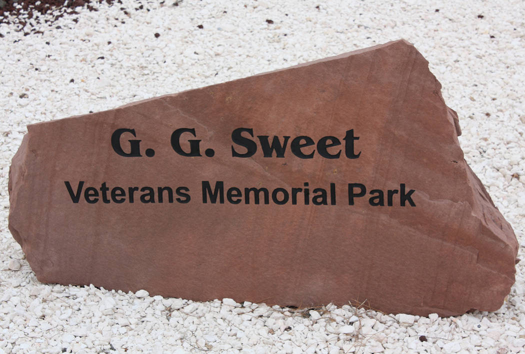 Robin Hebrock/Pahrump Valley Times G.G. Sweet Memorial Park is located at 1483 Gamebird Road in ...