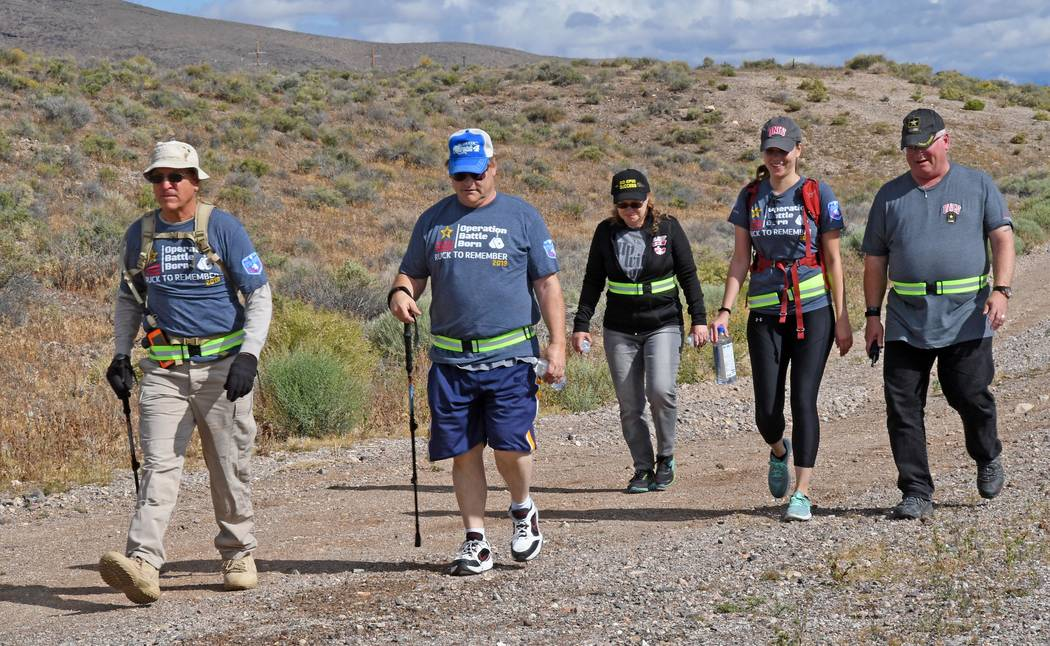 Richard Stephens/Special to the Pahrump Valley Times Randy Schroeder, on the left, and his daug ...