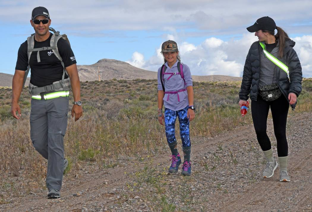 Richard Stephens/Special to the Pahrump Valley Times Participants walked ten miles along U.S. 9 ...