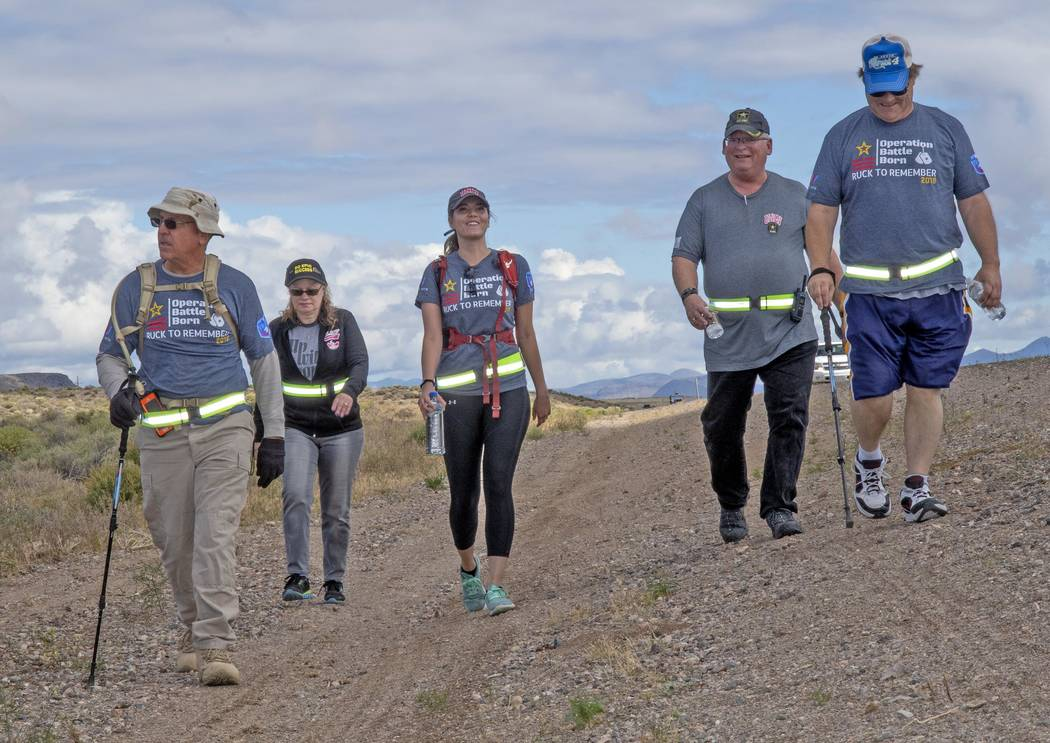 Richard Stephens/Special to the Pahrump Valley Times The walking relay covered a total of 376 m ...