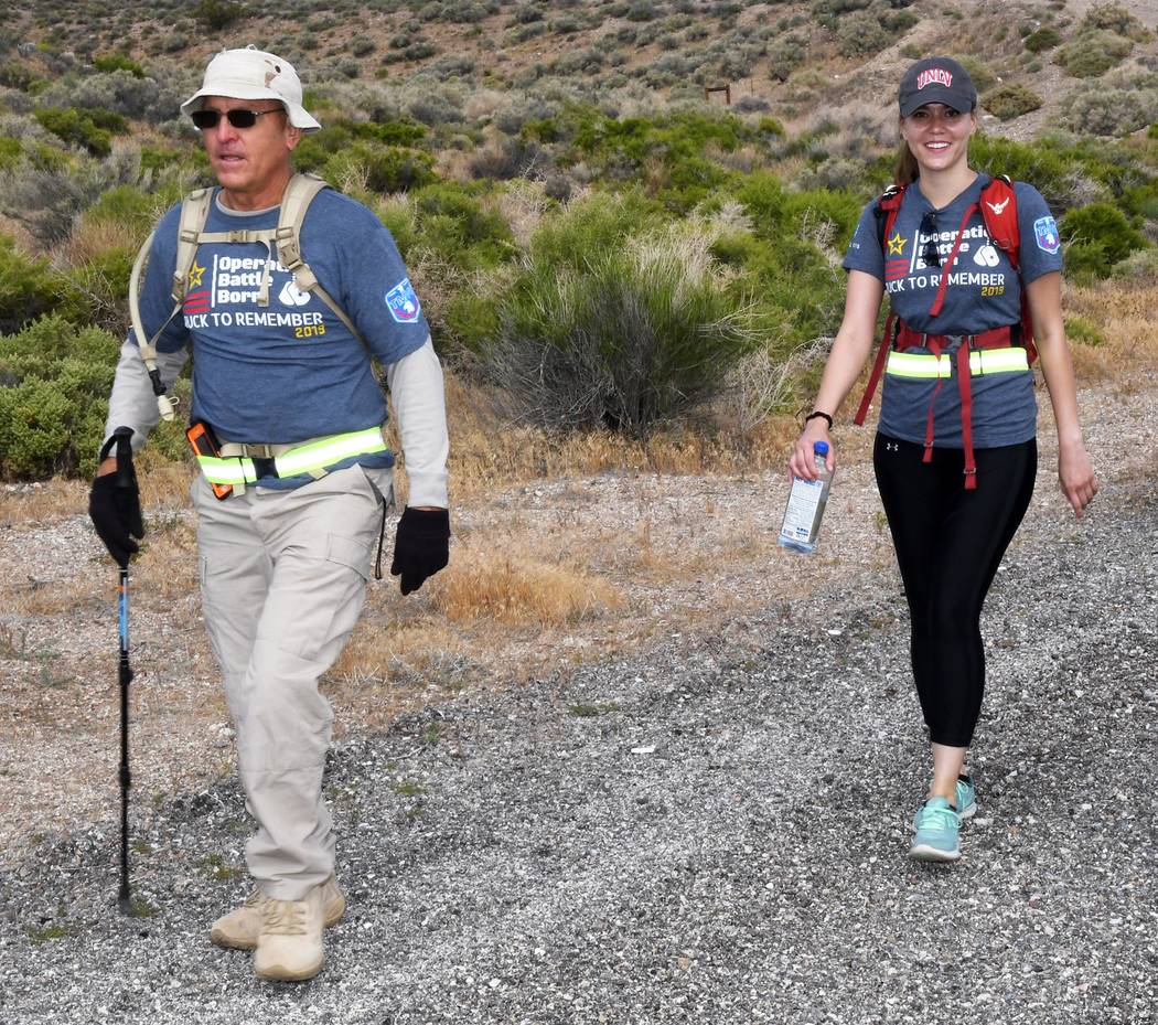 Richard Stephens/Special to the Pahrump Valley Times Beatty resident Randy Schroeder and his da ...