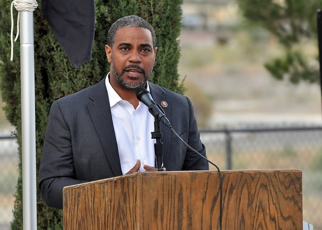 Horace Langford Jr./Pahrump Valley Times - Congressman Steven Horsford was a guest speaker at t ...