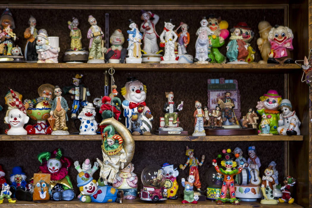 Patrick Connolly Las Vegas Review-Journal About 600 clowns decorate the lobby of the Clown Mot ...