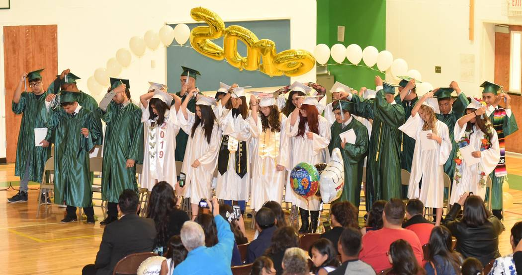 Richard Stephens/Special to the Pahrump Valley Times The Nye County School District Board of Tr ...