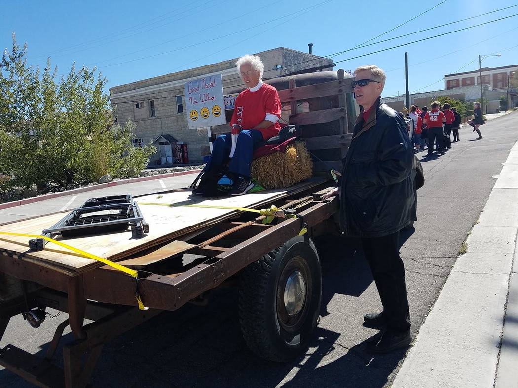 David Jacobs/Pahrump Valley Times Jim Fossett (right), director of rural schools for the Nye Co ...
