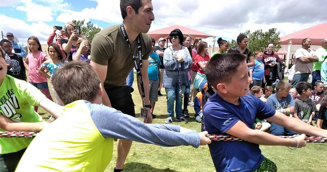 Selwyn Harris/Pahrump Valley Times A tug of war competition was one of the highlights during th ...
