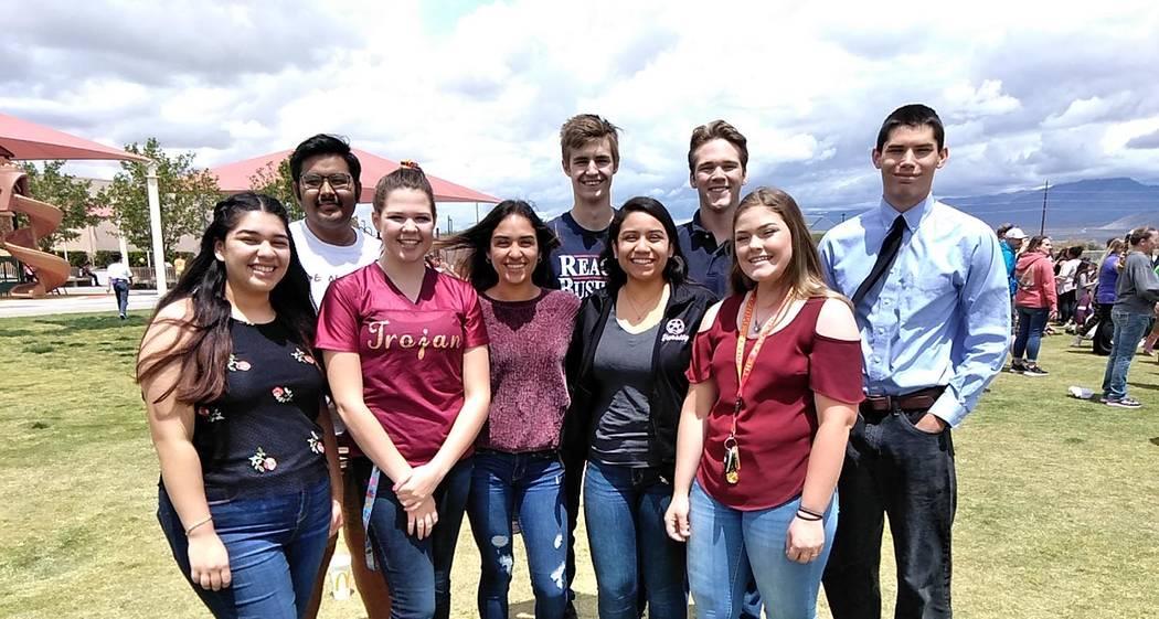 Selwyn Harris/Pahrump Valley Times At least nine members of the Pahrump Valley High School 2019 ...