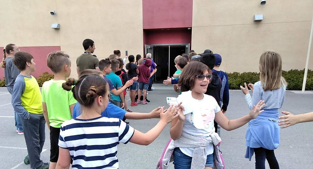 """Selwyn Harris/Pahrump Valley Times The annual """"Clap Out"""" at the end of the school year is a ver ..."""