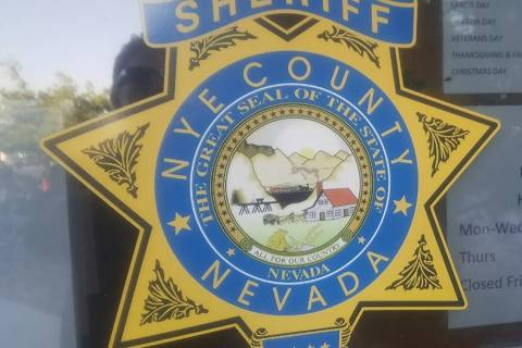 David Jacobs/Pahrump Valley Times Nye County Sheriff's Office Deputies are investigating an inc ...