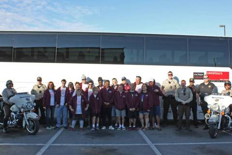 Robin Hebrock/Pahrump Valley Times The Pahrump Special Olympics athletes and coaches pose with ...