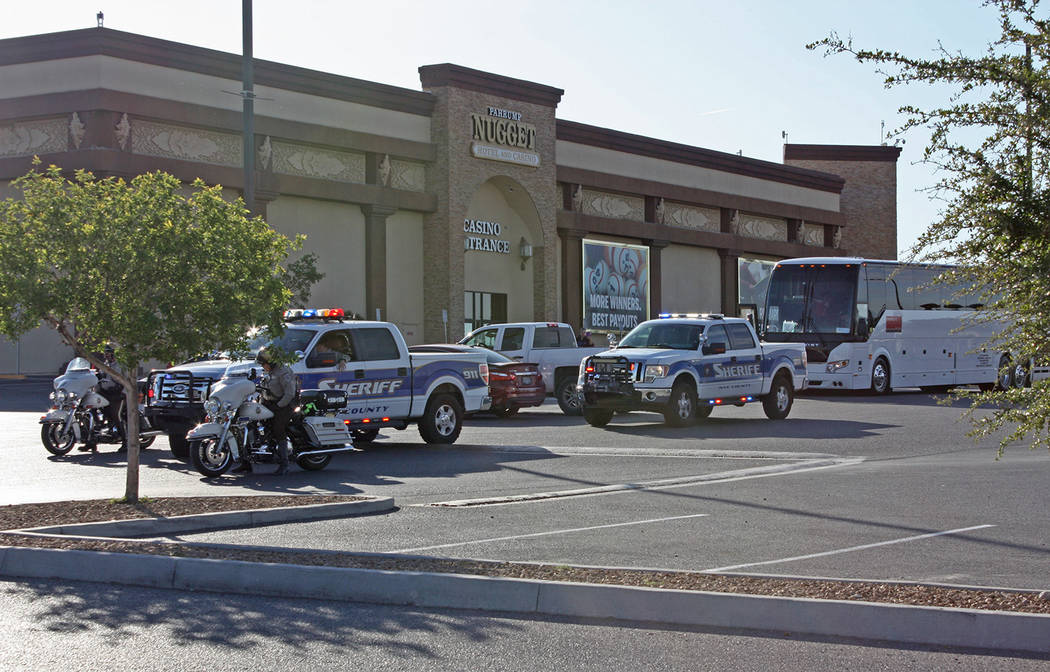 Robin Hebrock/Pahrump Valley Times Sending the Pahrump Special Olympics athletes off in style, ...
