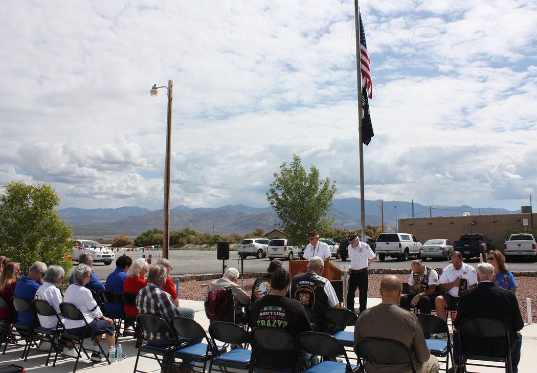 Robin Hebrock/Pahrump Valley Times Area veterans and civilians came together to remember the me ...