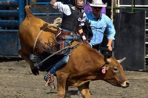 Buddy Krebs/Special to the Pahrump Valley Times Brandon Mountz of the Pahrump Valley High Schoo ...