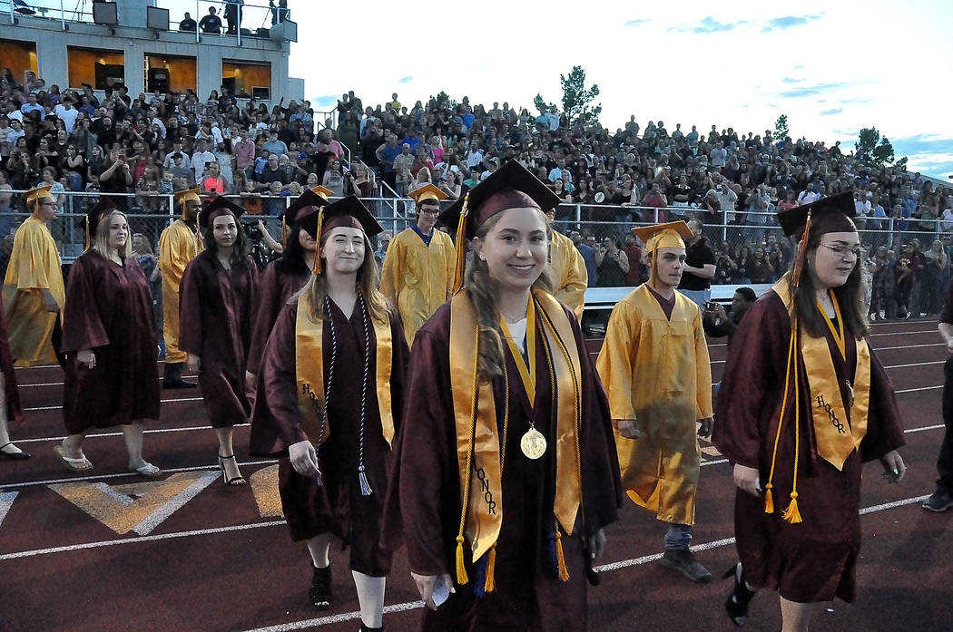 Horace Langford Jr./Special to the Pahrump Valley Times The 2019 Pahrump Valley High School gr ...