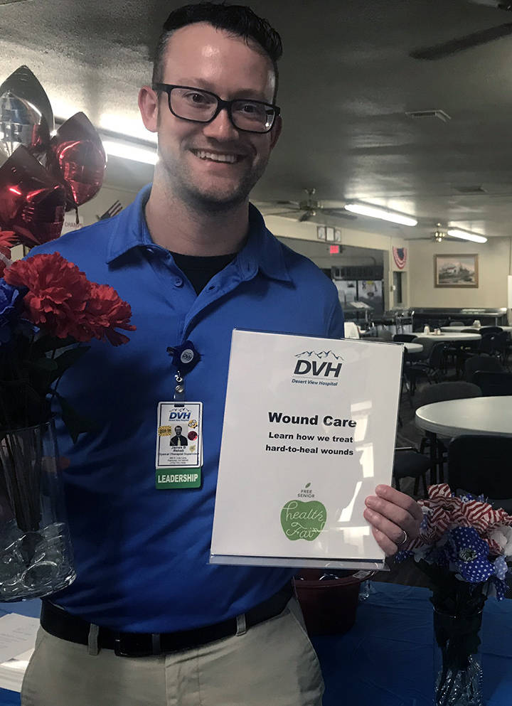 Jeffrey Meehan/Pahrump Valley Times James Boone, physical therapy supervisor at Desert View Hos ...