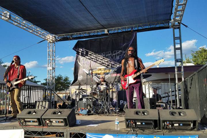 David Jacobs/Pahrump Valley Times The Thirsty Babyz perform at the 2017 Pahrump Fall Festival i ...