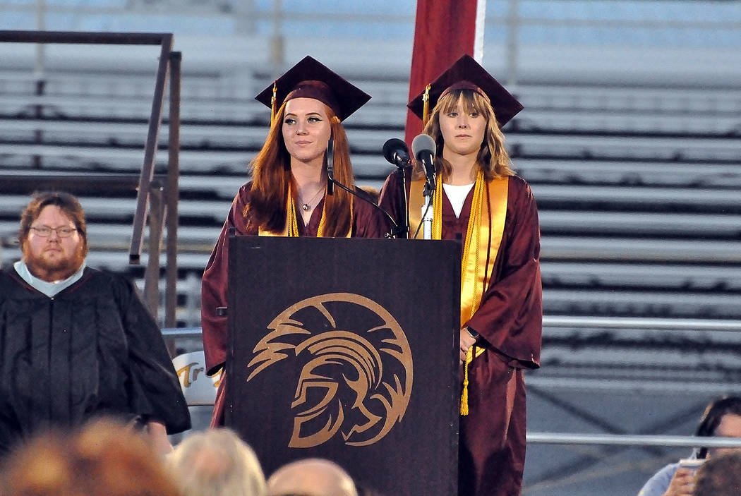 Horace Langford Jr./Special to the Pahrump Valley Times Student Body President Shelby Lucas (l ...