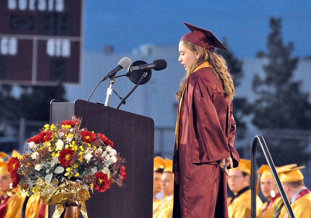 Horace Langford Jr./Special to the Pahrump Valley Times Samantha Thompson, valedictorian for th ...