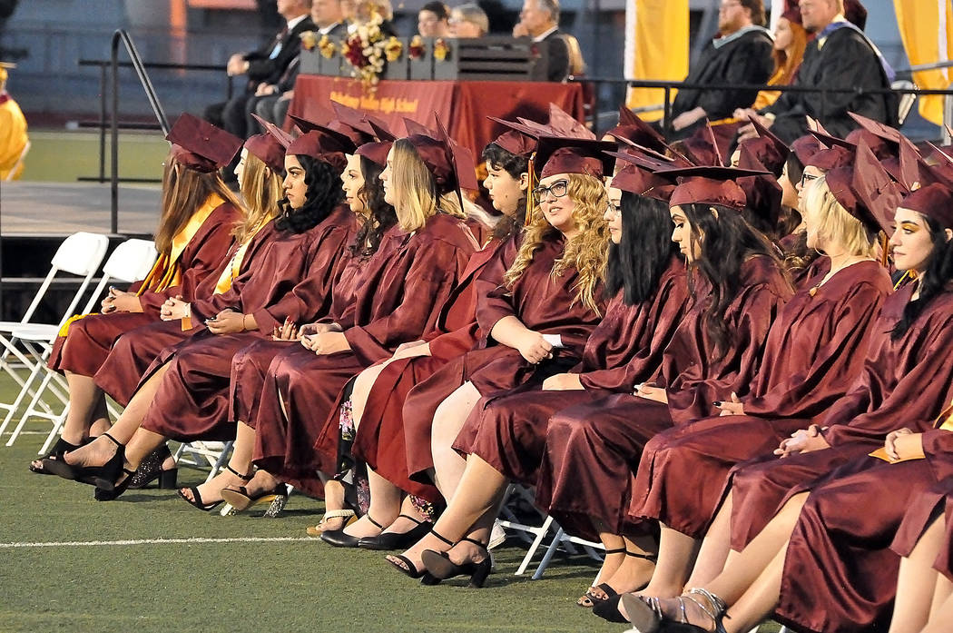 Horace Langford Jr./Special to the Pahrump Valley Times The graduation ceremony for the Class o ...