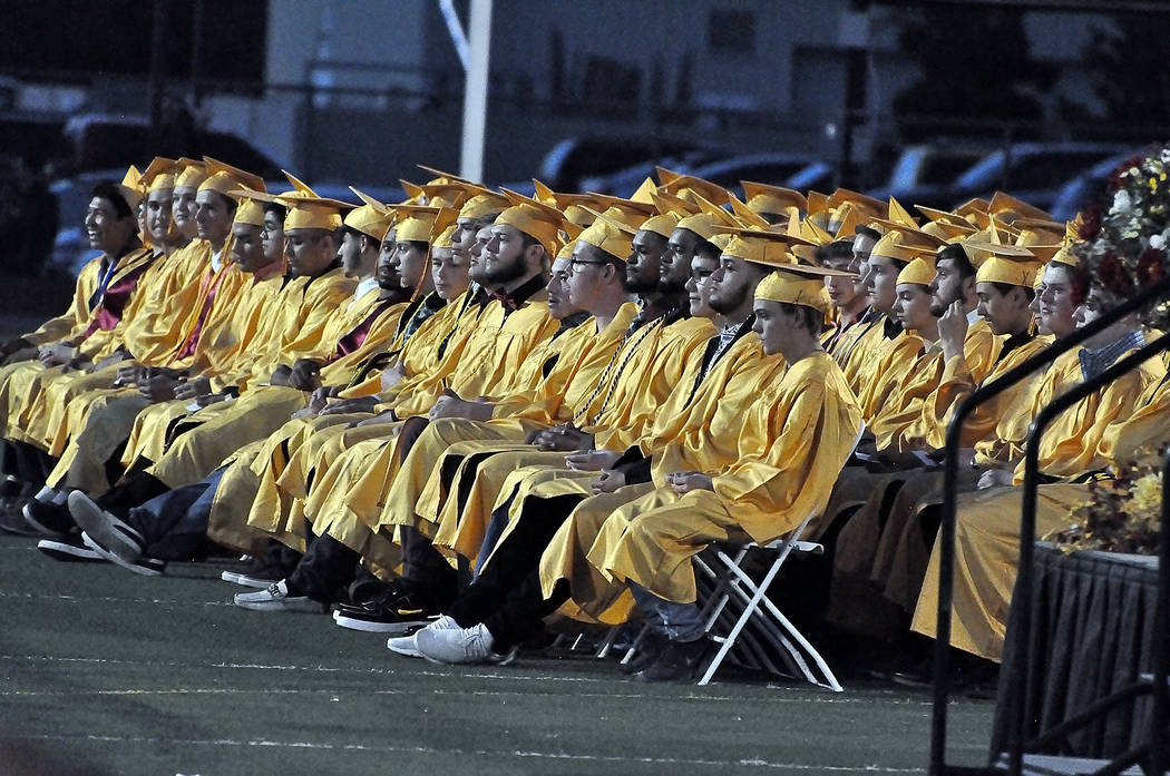 Horace Langford Jr./Special to the Pahrump Valley Times The graduating Class of 2019 for Pahrum ...