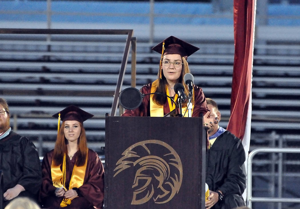 Horace Langford Jr./Special to the Pahrump Valley Times Darcy Biermeyer, salutatorian for the C ...