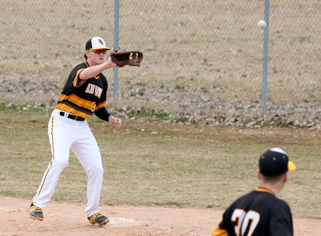 Special to the Pahrump Valley Times Black Hawk College baseball player Parker Hart, Pahrump Val ...