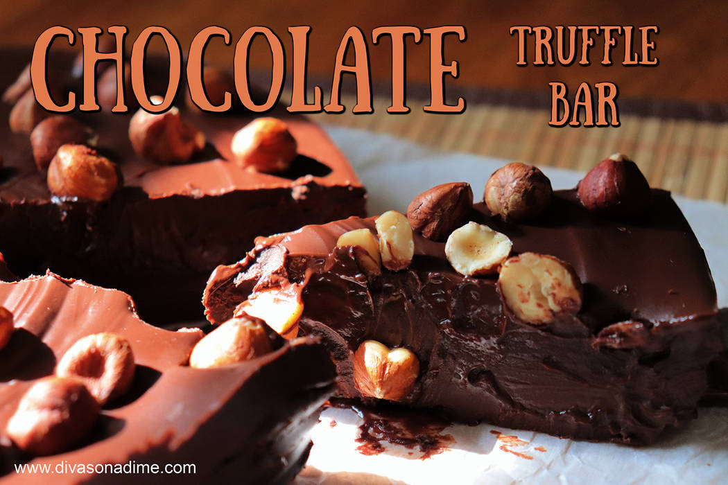 Patti Diamond/Special to the Pahrump Valley Times The truffle is layered with firm chocolate to ...