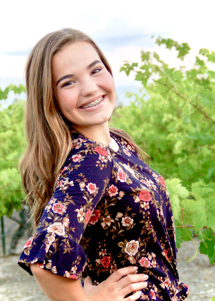 Special to the Pahrump Valley Times Makell Sharp, the daughter of Aaron and Bonnie Sharp, is 15 ...