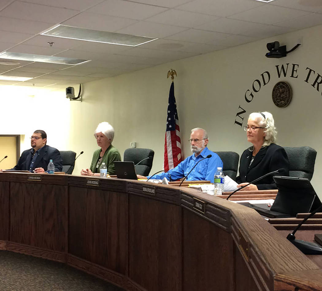 Robin Hebrock/Pahrump Valley Times The Nye County Commission recently approved its final budget ...