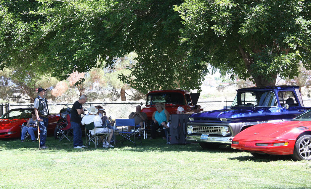 Robin Hebrock/Pahrump Valley Times A group of local auto enthusiasts joined in the fun at the V ...