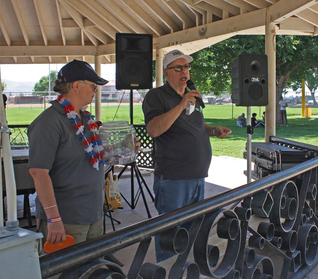 Robin Hebrock/Pahrump Valley Times Disabled American Veterans Chapter #15 Commander Greg Cardar ...