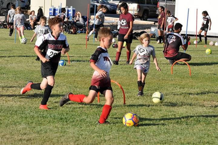 Horace Langford Jr./Pahrump Valley Times More than 100 young soccer players turned out for the ...