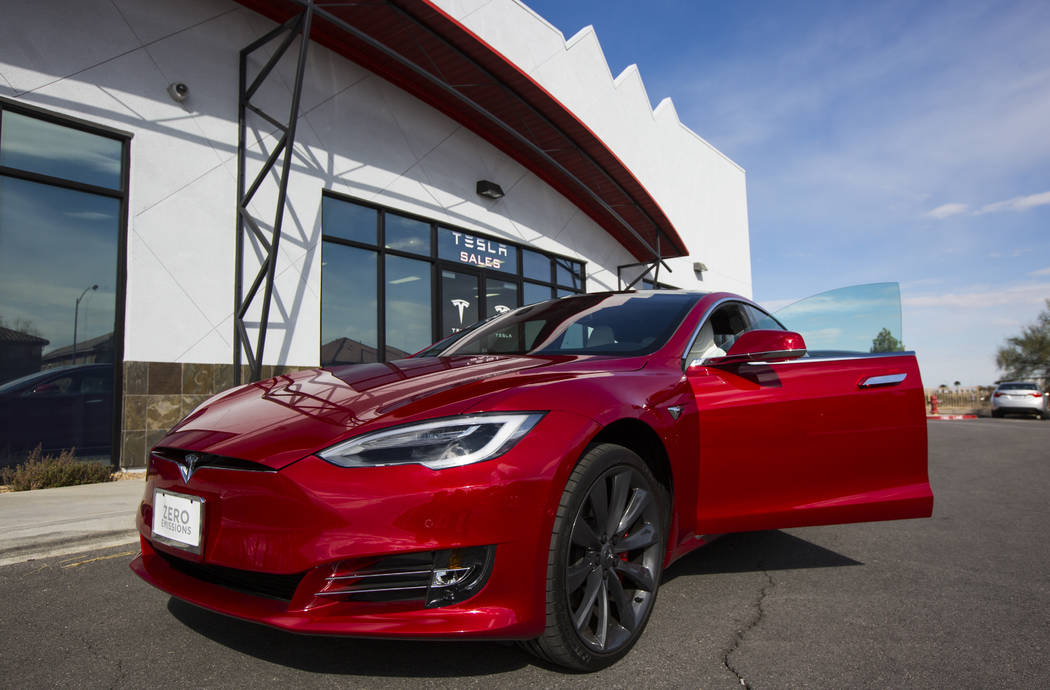 Chase Stevens/Las Vegas Review-Journal Tesla, in its pledge to donate $37.5 million to K-12 ed ...