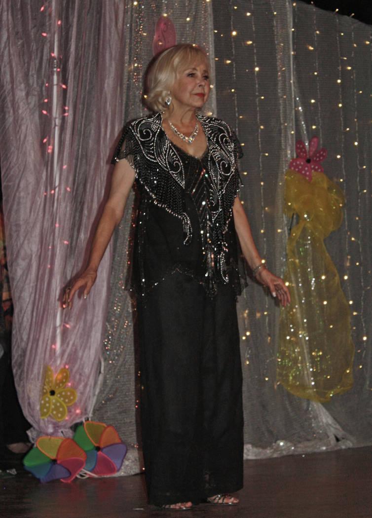 Robin Hebrock/Pahrump Valley Times Betsie Sanders impressed the Ms. Senior Golden Years judges ...