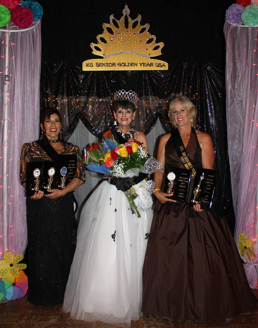 Robin Hebrock/Pahrump Valley Times Pennie Beccia, left, took home the title of second runner-up ...
