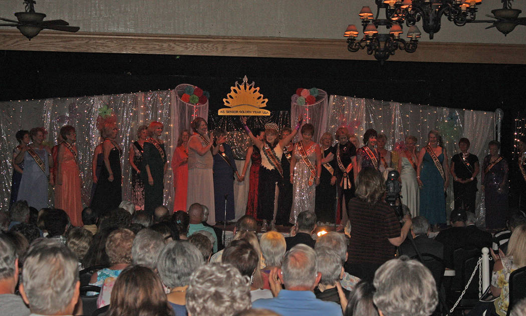 Robin Hebrock/Pahrump Valley Times Many of the past queens and queen's court members came toget ...