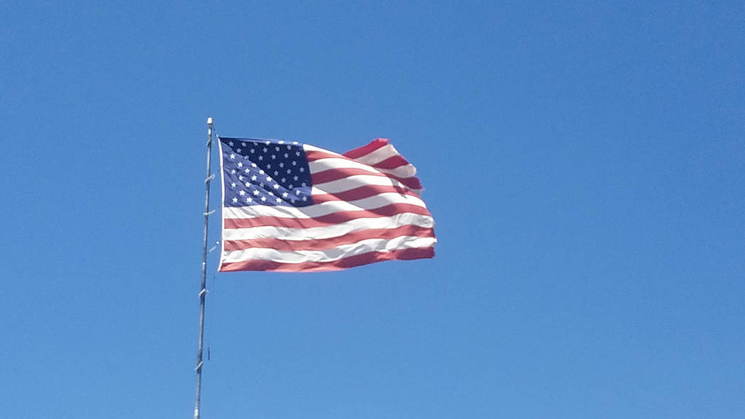 David Jacobs/Pahrump Valley Times The American flag flies in Pahrump as shown in a file photo.
