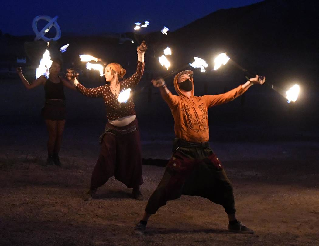 """Richard Stephens/Special to the Pahrump Valley Times The event also includes dancing by """"fire ..."""