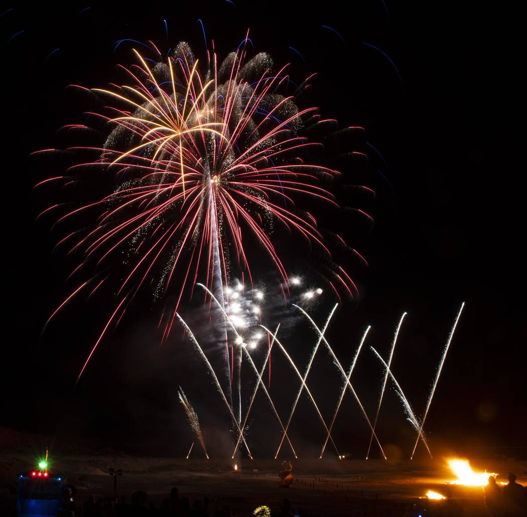 Richard Stephens/Special to the Pahrump Valley Times The attendees of the Burning Man are treat ...