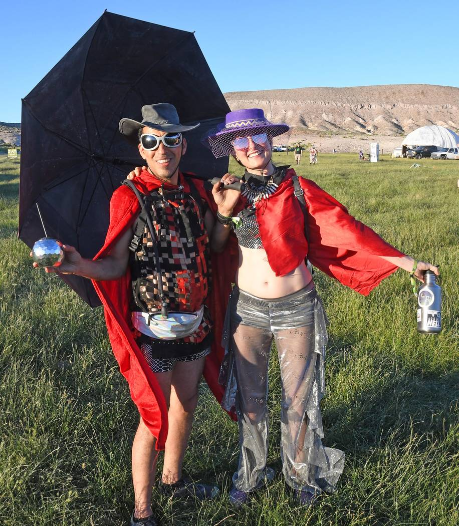 Richard Stephens/Special to the Pahrump Valley Times A couple in costume get into the spirit. B ...