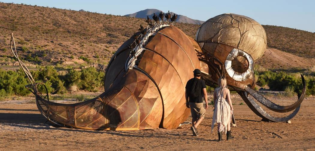 Richard Stephens/Special to the Pahrump Valley Times The Burning Man event includes heavy doses ...