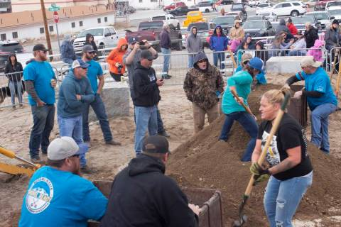 Jeffrey Meehan/Times-Bonanza & Goldfield News The women's mucking competition at the 2019 Nevad ...