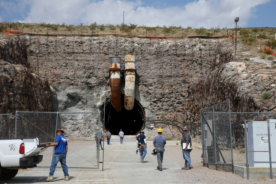 The north portal to a five mile tunnel in Yucca Mountain 90 miles northwest of Las Vegas during ...