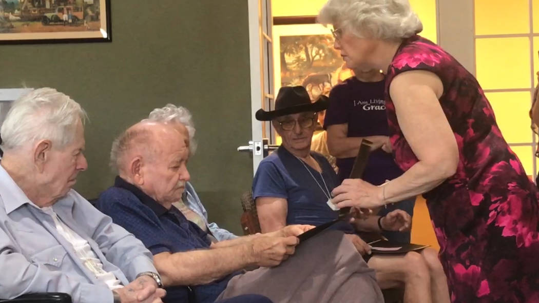 Jeffrey Meehan/Pahrump Valley Times More than 20 veterans were recognized for their service dur ...