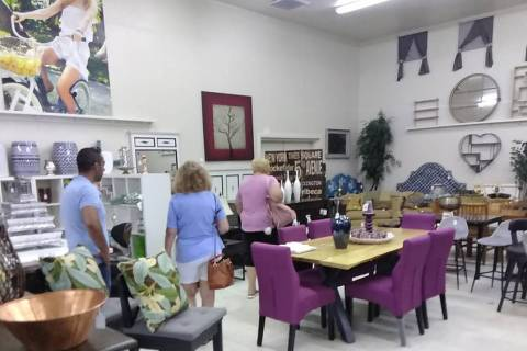 Selwyn Harris/Pahrump Valley Times Shoppers browse the showroom of Pahrump Second-Hand Deals lo ...