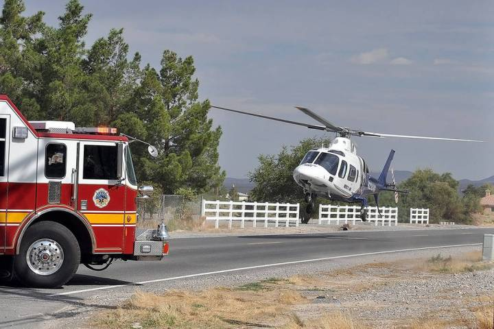 Horace Langford Jr./Pahrump Valley Times Mercy Air 21 as shown in a file photo. The medical he ...