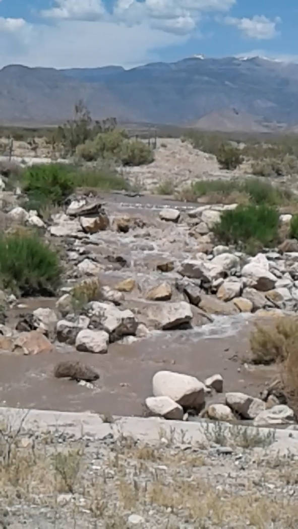 Pamela Coon/Special to the Pahrump Valley Times Reader Pamela Coon took a video of what locals ...