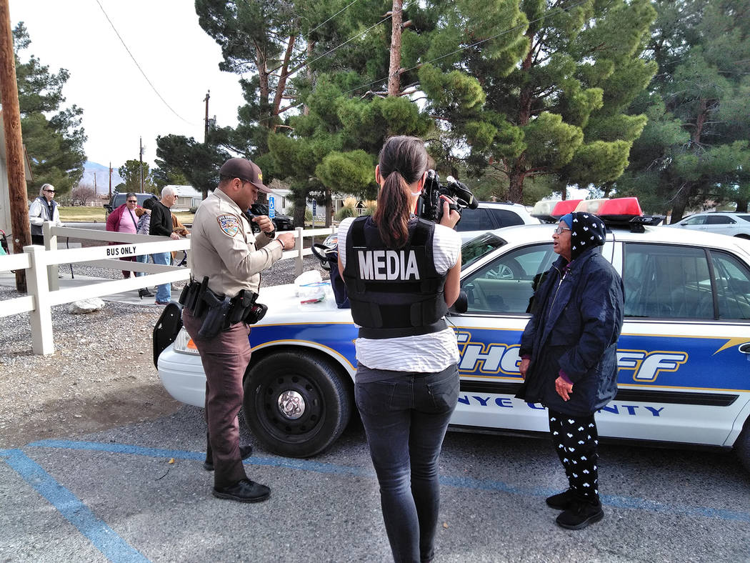 Selwyn Harris/Pahrump Valley Times The Nye County Sheriff's Office is taking a break from Live ...